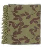 RugStudio presents Surya Throws Timaro 2001 Green-Brown