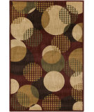 RugStudio presents Surya Ventura VNT-7000 Neutral / Red / Green Machine Woven, Good Quality Area Rug