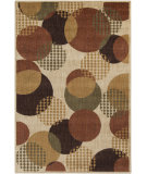 RugStudio presents Surya Ventura VNT-7001 Neutral / Green Machine Woven, Good Quality Area Rug