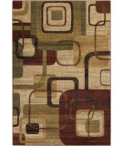 RugStudio presents Surya Ventura VNT-7011 Neutral / Red / Green Machine Woven, Good Quality Area Rug