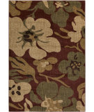 RugStudio presents Surya Ventura VNT-7020 Burgundy / Green Machine Woven, Good Quality Area Rug