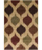 RugStudio presents Surya Ventura VNT-7026 Neutral / Green / Red Machine Woven, Good Quality Area Rug