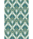 RugStudio presents Surya Voyages VOY-52 Teal Flat-Woven Area Rug