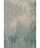 RugStudio presents Rugstudio Sample Sale 107180R Green Blue Hand-Knotted, Good Quality Area Rug