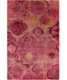 RugStudio presents Surya Watercolor WAT-5006 Orange / Red / Pink / Violet Hand-Knotted, Good Quality Area Rug