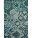 RugStudio presents Surya Watercolor Wat-5012 Emerald/Kelly Green Hand-Knotted, Good Quality Area Rug