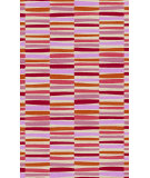 RugStudio presents Surya Young Life YGL-7009 Green / Red / Pink / Orange / Violet (purple) Hand-Tufted, Best Quality Area Rug