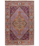 RugStudio presents Surya Zeus Zeu-7820 Eggplant Hand-Knotted, Best Quality Area Rug