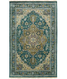 RugStudio presents Surya Zeus Zeu-7822 Teal Hand-Knotted, Good Quality Area Rug