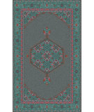 RugStudio presents Surya Zahra ZHA-4006 Teal / Pink Hand-Knotted, Best Quality Area Rug