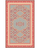 RugStudio presents Surya Zahra ZHA-4007 Neutral / Red / Pink / Green Area Rug