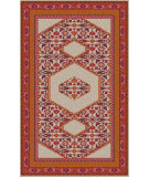 RugStudio presents Surya Zahra ZHA-4010 Green / Neutral / Red / Violet (purple) Area Rug