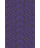 RugStudio presents Surya Zahra ZHA-4020 Black / Violet (purple) Hand-Knotted, Best Quality Area Rug