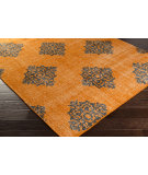 RugStudio presents Surya Zahra ZHA-4025 Black / Burnt Orange Hand-Knotted, Best Quality Area Rug