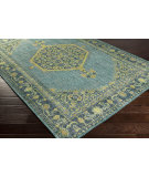 RugStudio presents Surya Zahra ZHA-4027 Blue / Green Hand-Knotted, Best Quality Area Rug
