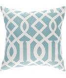 RugStudio presents Surya Pillows ZZ-417 Teal/Ivory