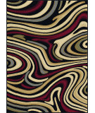 RugStudio presents Tayse Laguna 4608 Charcoal Machine Woven, Good Quality Area Rug