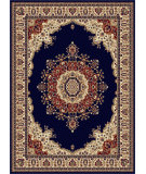 RugStudio presents Tayse Sensation 4707 Navy Blue Machine Woven, Good Quality Area Rug