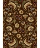 RugStudio presents Tayse Elegance Collection 5328 Brown Machine Woven, Good Quality Area Rug