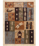RugStudio presents Tayse Nature Collection 6522 Ivory Machine Woven, Good Quality Area Rug
