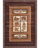 RugStudio presents Tayse Nature Collection 6538 Brown Machine Woven, Good Quality Area Rug