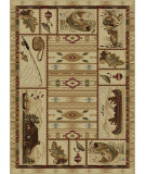 RugStudio presents Tayse Nature 6642 Beige Machine Woven, Good Quality Area Rug