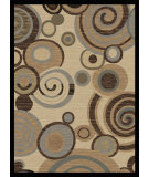 RugStudio presents Tayse Festival Collection 8832 Ivory Machine Woven, Good Quality Area Rug