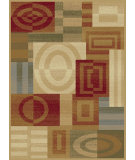 RugStudio presents Tayse Festival Collection 8862 Ivory Machine Woven, Good Quality Area Rug