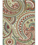 RugStudio presents Tayse Deco 1001 Ivory Machine Woven, Good Quality Area Rug