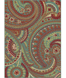 RugStudio presents Tayse Deco 1002 Blue Machine Woven, Good Quality Area Rug