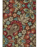 RugStudio presents Tayse Deco 1007 Brown Machine Woven, Good Quality Area Rug