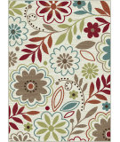 RugStudio presents Tayse Deco 1008 Ivory Machine Woven, Good Quality Area Rug