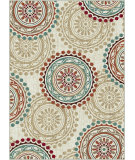 RugStudio presents Tayse Deco 1011 Ivory Machine Woven, Good Quality Area Rug