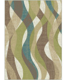 RugStudio presents Tayse Deco 1012 Ivory Machine Woven, Good Quality Area Rug