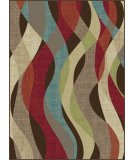 RugStudio presents Tayse Deco 1013 Brown Machine Woven, Good Quality Area Rug