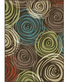 RugStudio presents Tayse Deco 1015 Brown Machine Woven, Good Quality Area Rug
