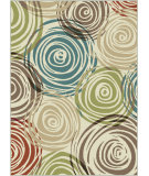 RugStudio presents Tayse Deco 1016 Ivory Machine Woven, Good Quality Area Rug