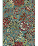 RugStudio presents Tayse Deco 1023 Blue Machine Woven, Good Quality Area Rug