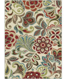 RugStudio presents Tayse Deco 1025 Ivory Machine Woven, Good Quality Area Rug