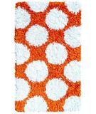 RugStudio presents The Rug Market America Kids Polkamania Orange/white 02265 Orange/white Area Rug