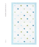 RugStudio presents The Rug Market America Kids Polka Dots 11763 White/blue/green Hand-Hooked Area Rug