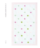 RugStudio presents The Rug Market America Kids Polka Dots Pink 11764 White/pink/green Hand-Hooked Area Rug