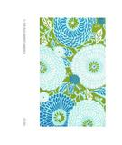 RugStudio presents The Rug Market America Resort Dandelion Blue 25260 Green/blue/white Hand-Hooked Area Rug