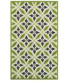 RugStudio presents Rugstudio Sample Sale 53082R Green/cream Hand-Hooked Area Rug