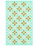 RugStudio presents The Rug Market America Resort Florin Blue 25307 Blue/green/cream Hand-Hooked Area Rug