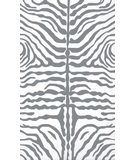 RugStudio presents The Rug Market America Resort Zebra Grey 25354 Grey/white Hand-Hooked Area Rug