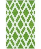 RugStudio presents Rugstudio Sample Sale 53200R Green/cream Hand-Hooked Area Rug