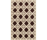 RugStudio presents The Rug Market America Resort Cane Brown 25206 Brown/ivory Hand-Hooked Area Rug