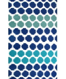 RugStudio presents The Rug Market America Resort Limbo Blue White/Blue/Green Hand-Hooked Area Rug