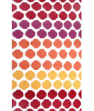 RugStudio presents The Rug Market America Resort Limbo Red Red/White/Yellow Hand-Hooked Area Rug